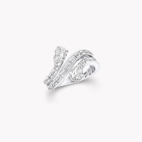 Duet Triple Row Diamond Ring, , hi-res