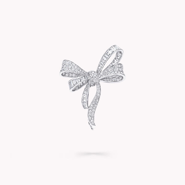 Broche en diamants Tilda's Bow, , hi-res