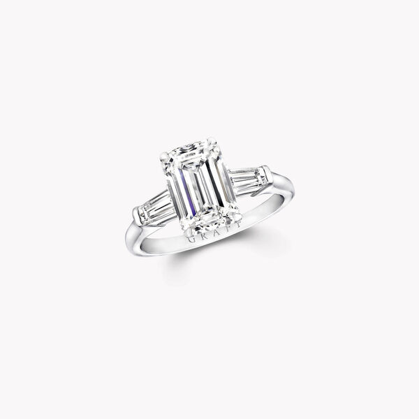 Promise祖母綠形切割鑽石訂婚戒指, , hi-res