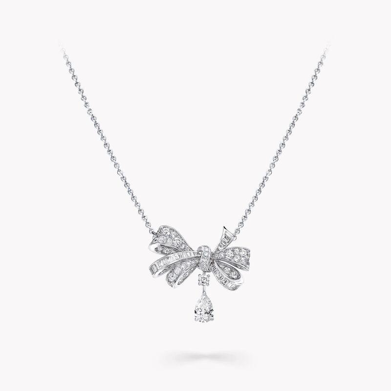 Tilda's Bow Classic Diamond Drop Pendant, , hi-res