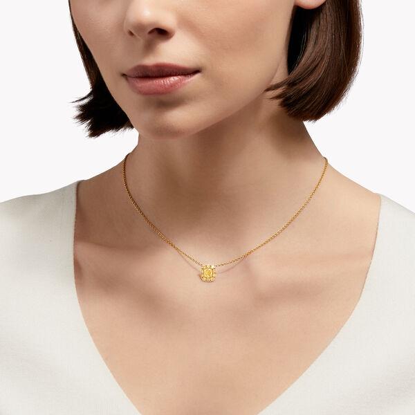 Icon Cushion Cut Yellow Diamond Pendant, , hi-res