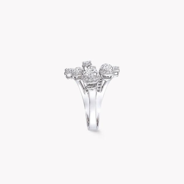 Duet梨形钻石戒指, , hi-res