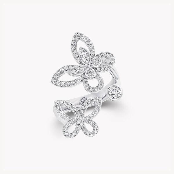 蝴蝶幻影多形切割鑽石戒指, , hi-res