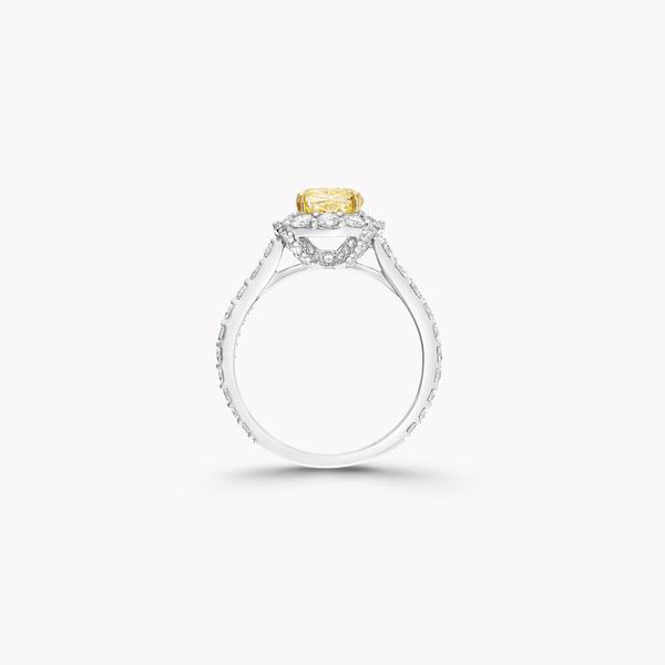 Icon雷地恩形切割黃鑽和白鑽戒指, , hi-res