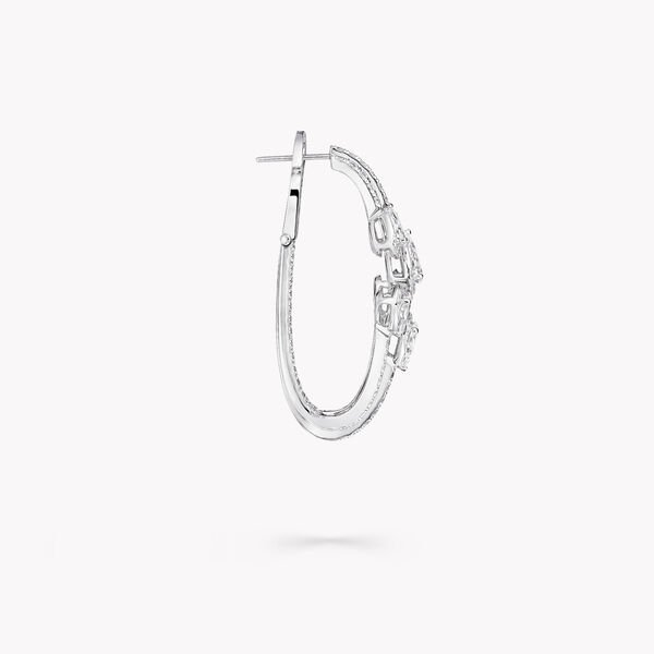 Duet Diamond Triple Hoop Earrings, , hi-res