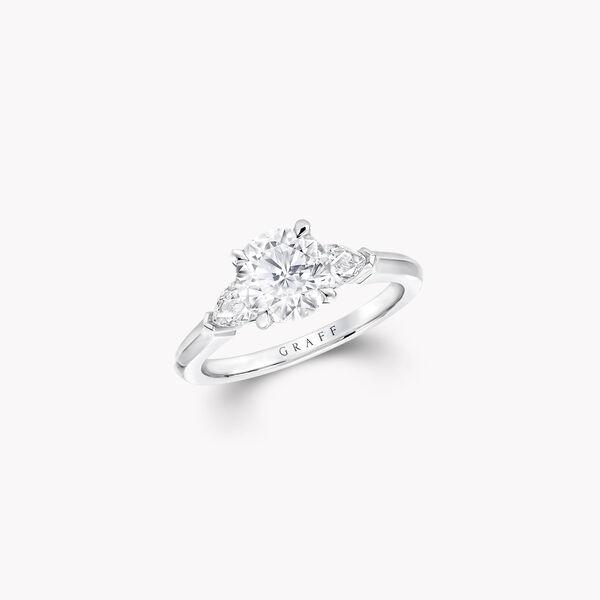 Promise圓形鑽石訂婚戒指, , hi-res