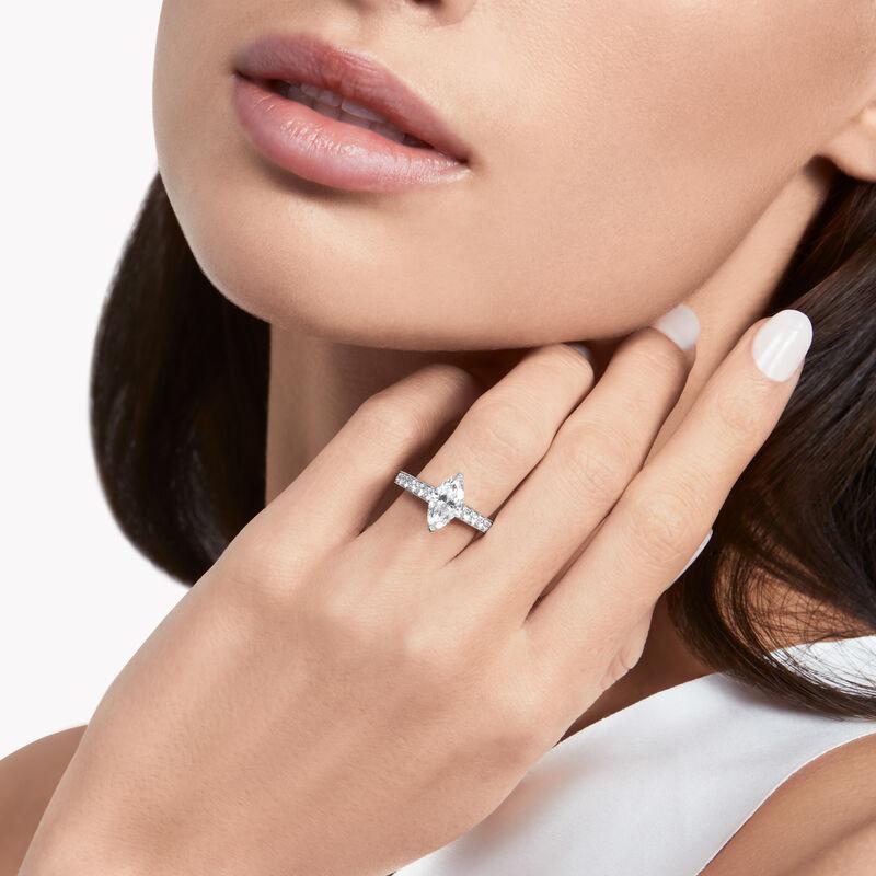フレーム マーキースカット ダイヤモンド エンゲージメントリング, , hi-res