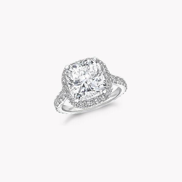 아이콘 쿠션 컷 다이아몬드 인게이지먼트 링, , hi-res