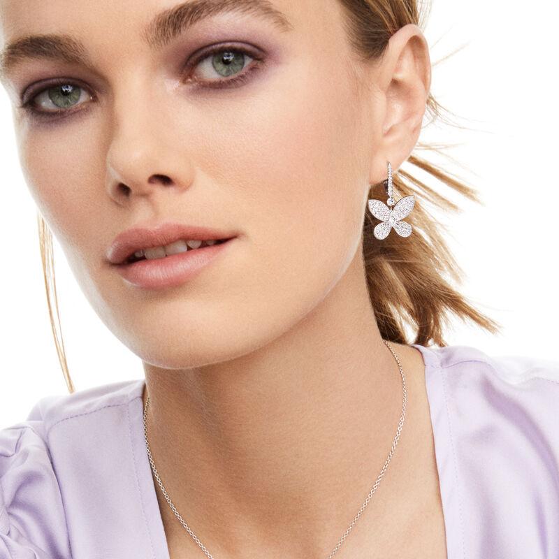 Pavé Butterfly Diamond Drop Earrings, , hi-res