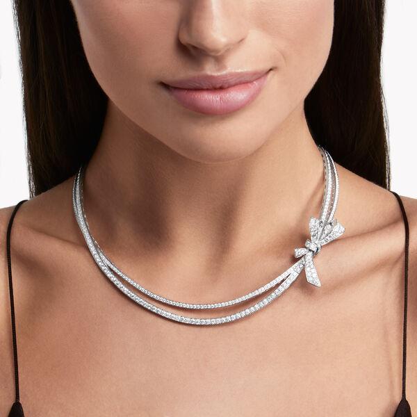 Tilda's Bow Diamond Necklace, , hi-res