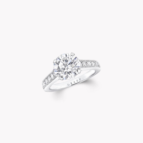 Flame圆形钻石订婚戒指, , hi-res
