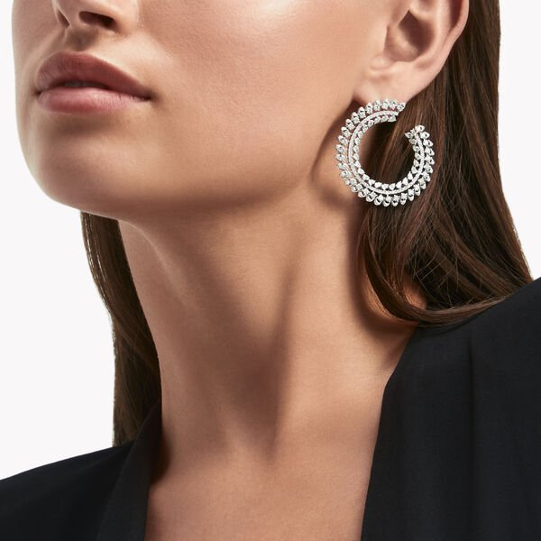 Graff Gateway Diamond Hoop Earrings, , hi-res