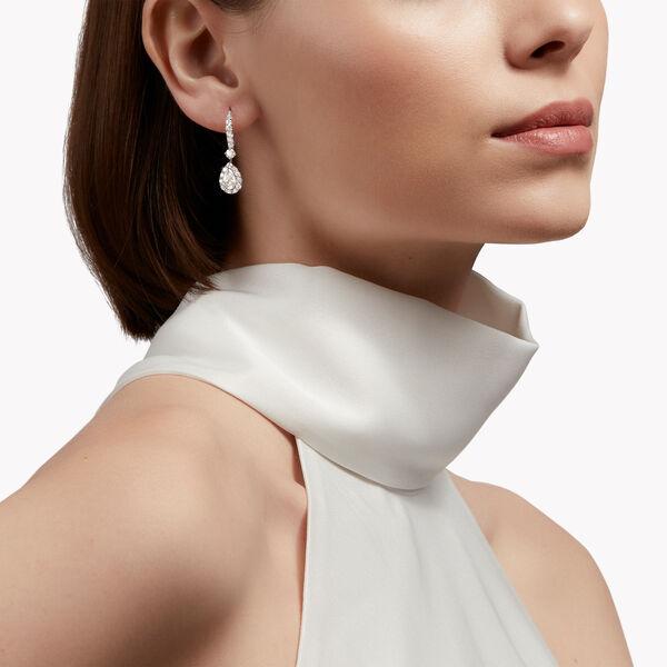 Icon梨形鑽石耳環, , hi-res