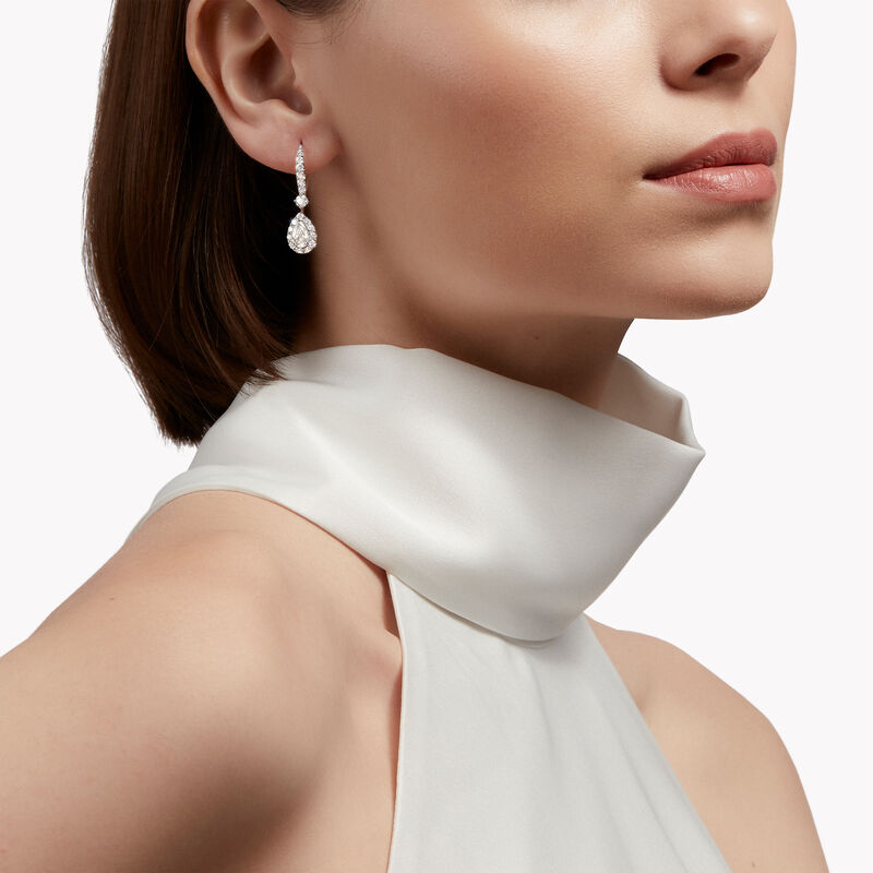 Icon Pear Shape Diamond Earrings, , hi-res