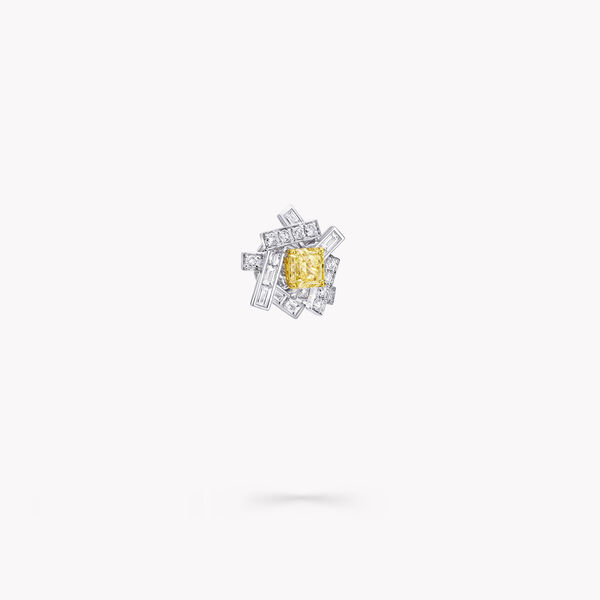 Threads Yellow and White Diamond Stud Earrings, , hi-res