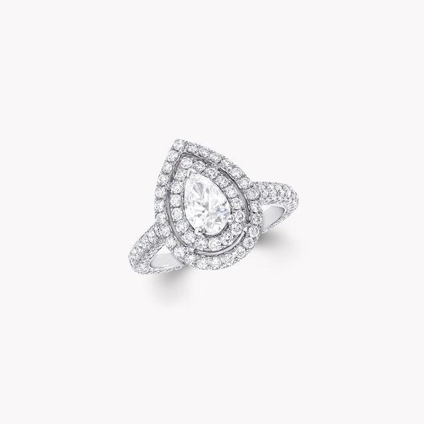 Twin Constellation梨形鑽石訂婚戒指, , hi-res