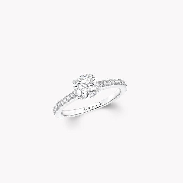 Bague de fiançailles ronde en diamants Flame, , hi-res