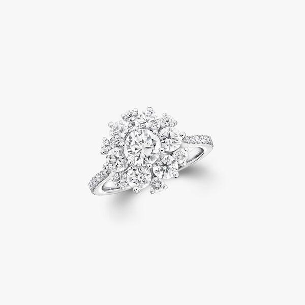 Round Diamond Cluster Ring, , hi-res