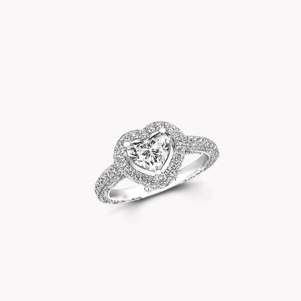 Constellation心形鑽石訂婚戒指, , hi-res