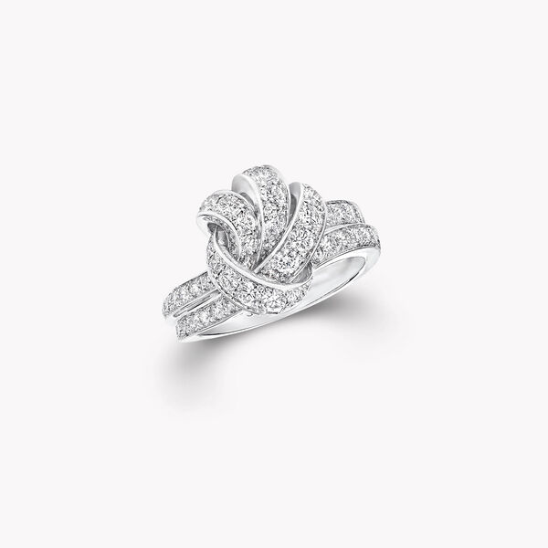 Knot Pavé Diamond Ring, , hi-res