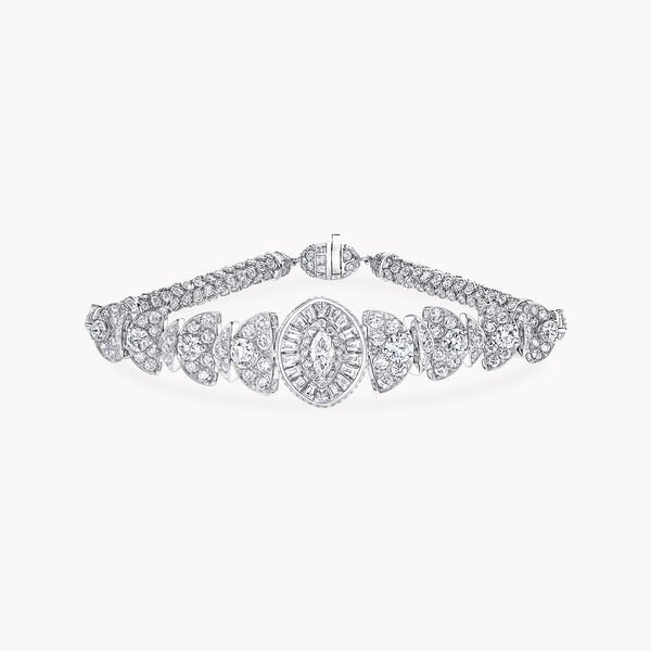 Night Moon Marquise Cut Diamond Bracelet, , hi-res