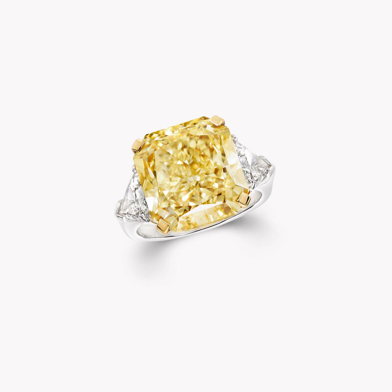 Radiant Cut Yellow and White Diamond High Jewellery Ring, , hi-res