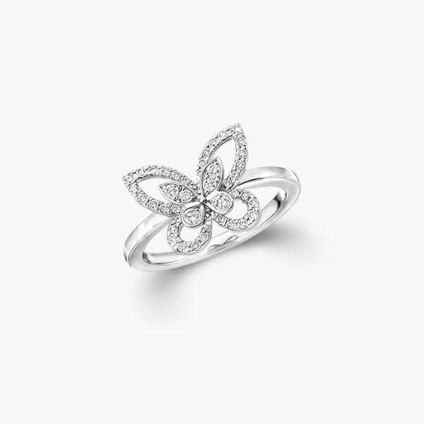 蝴蝶幻影迷你鑽石戒指, , hi-res
