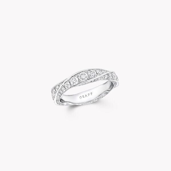 Spiral Pavé Diamond Band, , hi-res