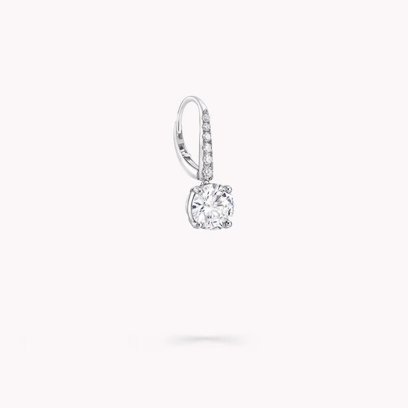 Boucles d'oreilles rondes en diamants, , hi-res