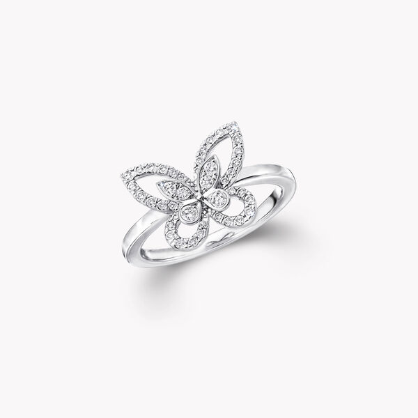 Mini bague en diamants Butterfly Silhouette, , hi-res