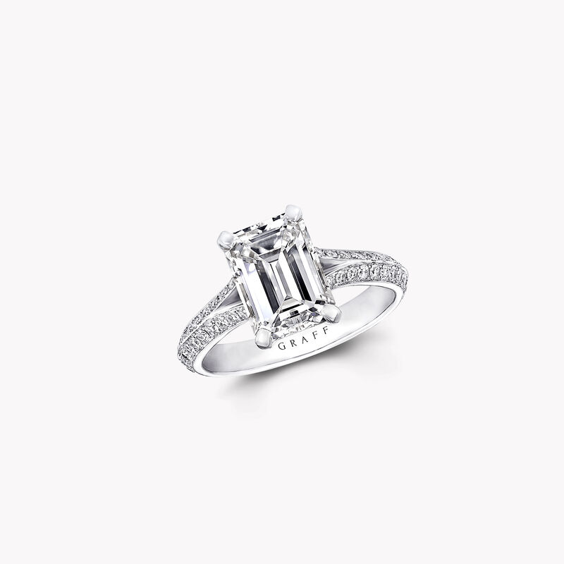 Legacy Emerald Cut Diamond Engagement Ring, , hi-res