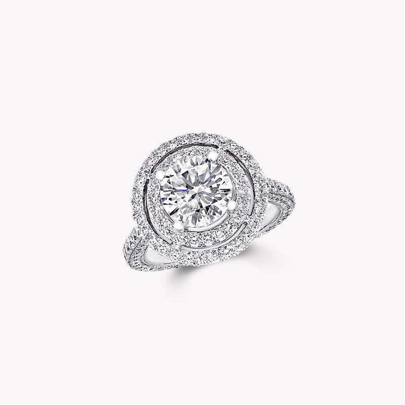 Bague de fiançailles ronde en diamants Twin Constellation, , hi-res
