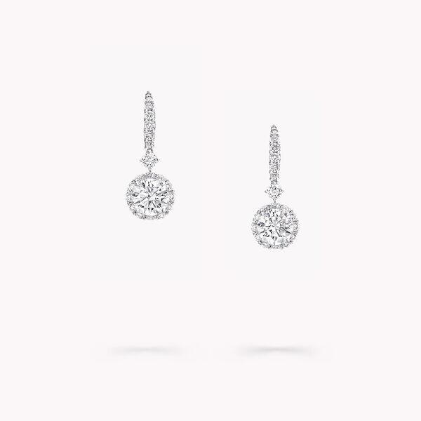 Boucles d'oreilles rondes en diamants Icon, , hi-res