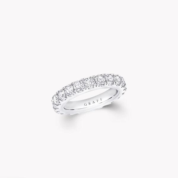 Castle Set Round Diamond Wedding Band, , hi-res