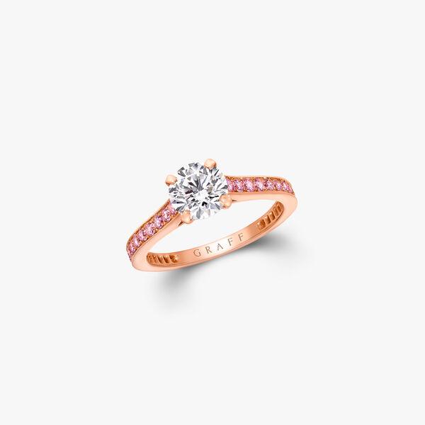Flame Round Diamond Engagement Ring, , hi-res