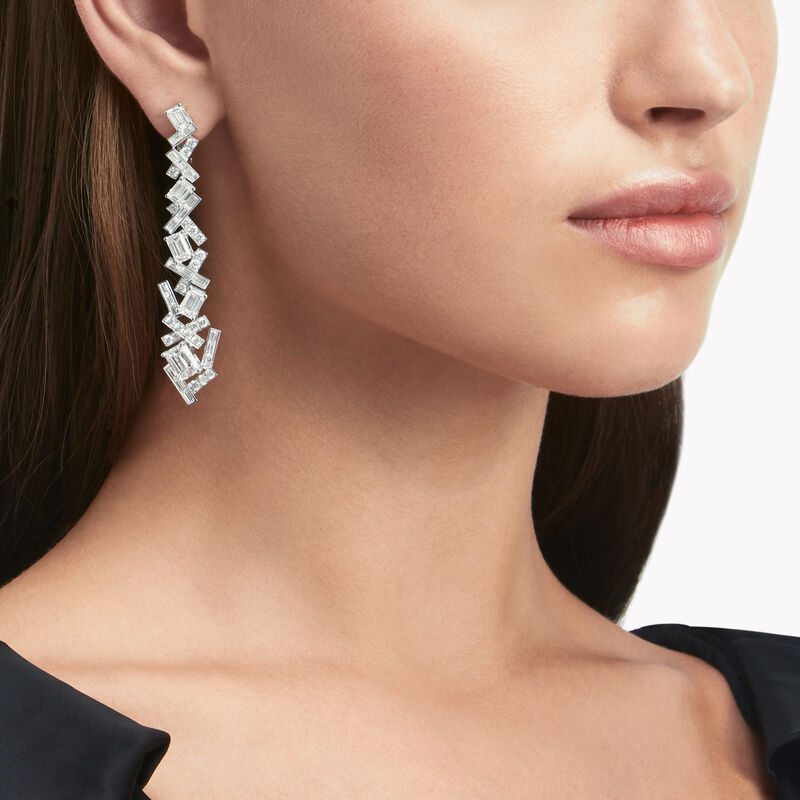 Boucles d'oreilles « goutte » en diamants Threads Classic, , hi-res