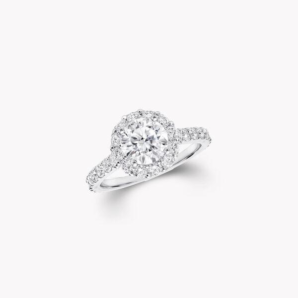 アイコン ラウンド ダイヤモンド エンゲージメントリング, , hi-res