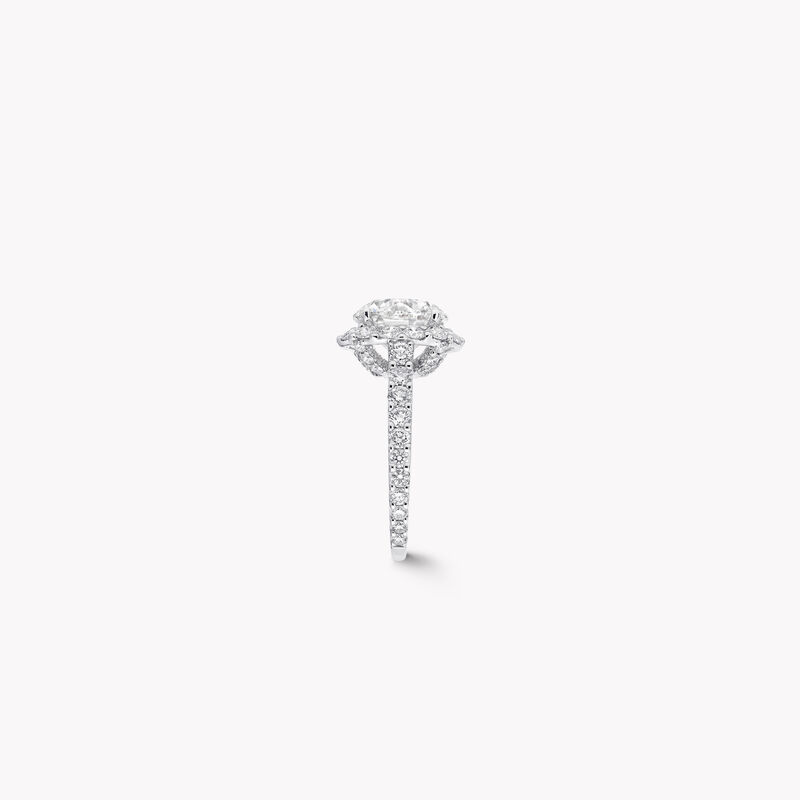 아이콘 라운드 다이아몬드 인게이지먼트 링, , hi-res