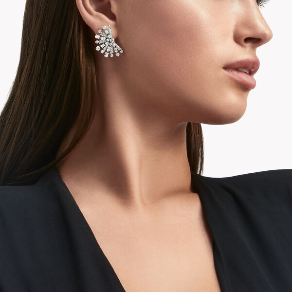Petits clous d'oreilles en diamants Solar, , hi-res