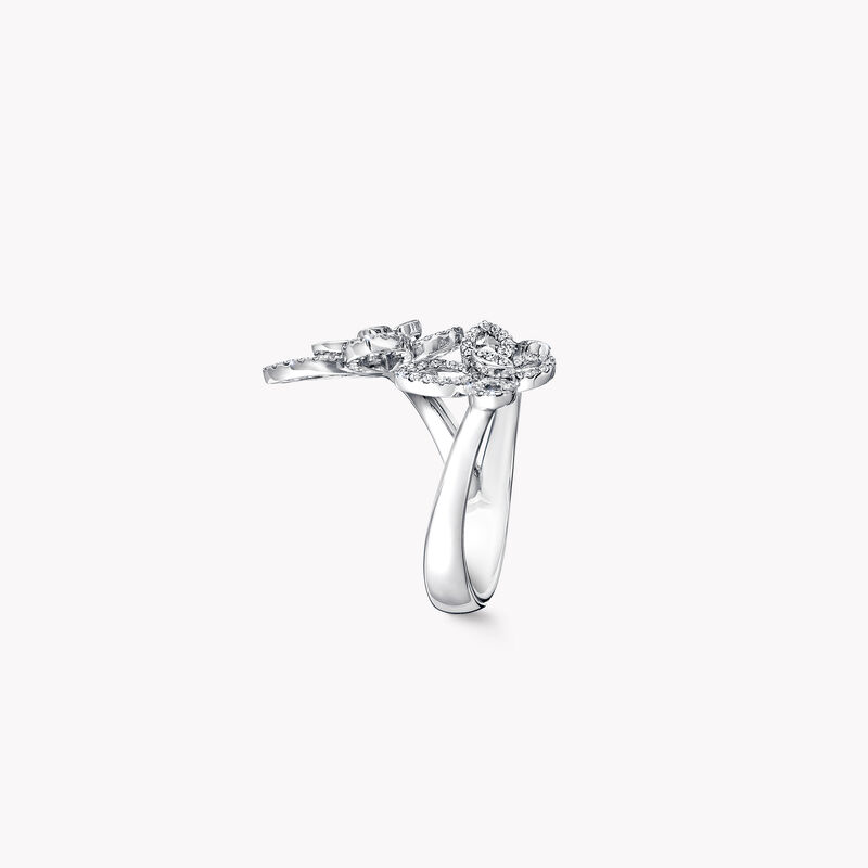 Triple Butterfly Silhouette Diamond Ring, , hi-res