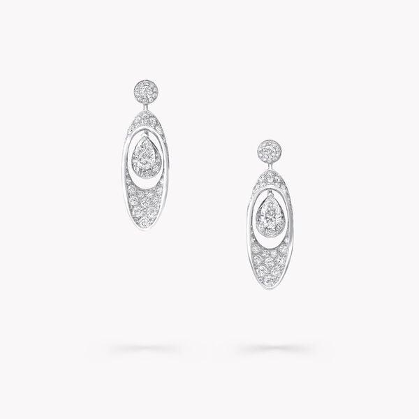 Boucles d'oreilles avec diamant taille poire motif Portail Graff, , hi-res