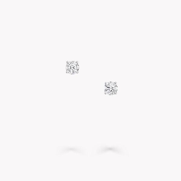 ラウンド ダイヤモンド スタッド イヤリング, , hi-res