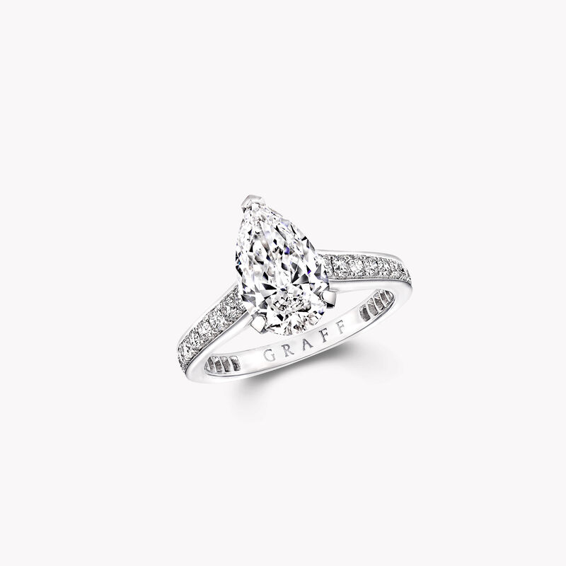 Flame Pear Shape Diamond Engagement Ring, , hi-res