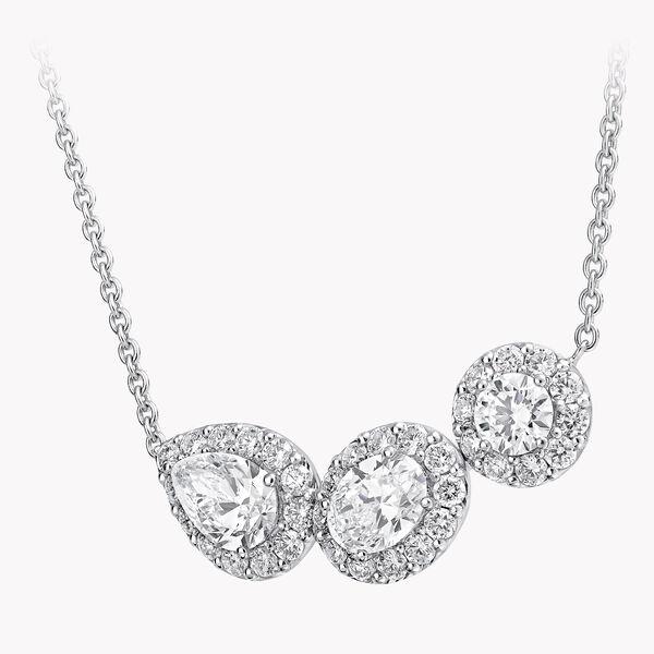 Icon Three Stone Diamond Necklace, , hi-res