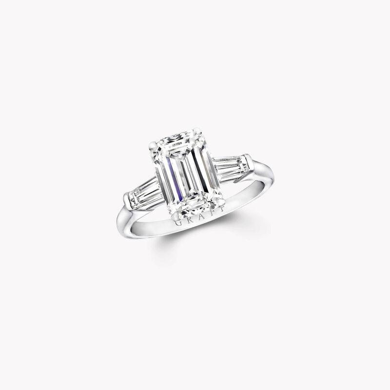 Promise Emerald Cut Diamond Engagement Ring Platinum Graff