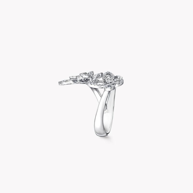 トリプル バタフライ シルエット ダイヤモンド リング, , hi-res