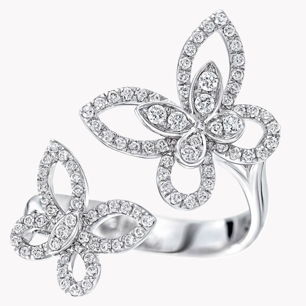 Bague en diamants Double Butterfly Silhouette, , hi-res