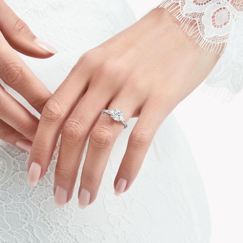 Bague de fiançailles ronde en diamants Promise, , hi-res