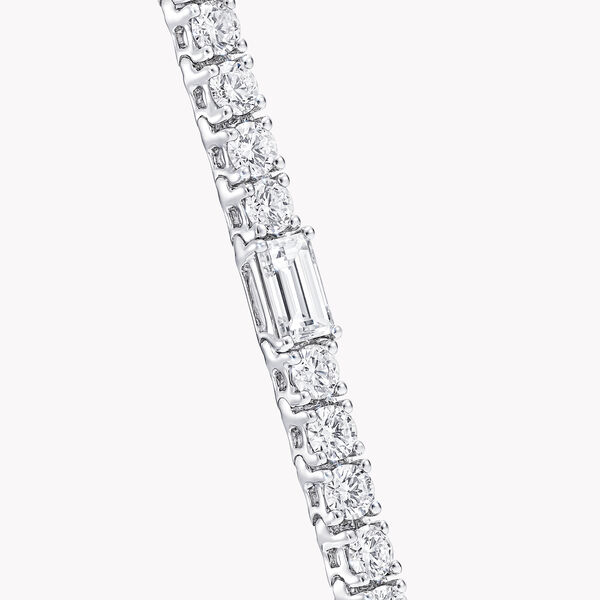 Round and Emerald Cut Diamond Bracelet, , hi-res