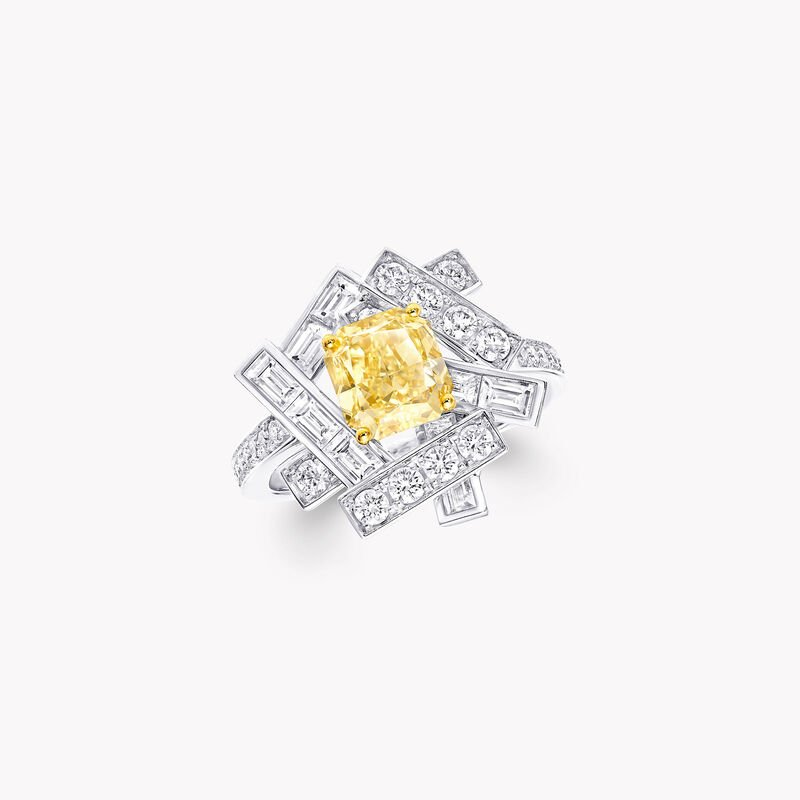 Bague en diamants jaunes et blancs Threads, , hi-res
